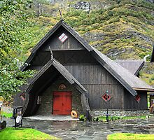 The Flåm Viking House. (1) by Larry Lingard-Davis
