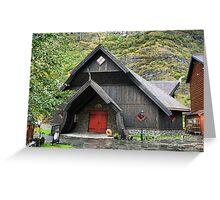 The Flåm Viking House. (1) Greeting Card