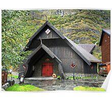 The Flåm Viking House. (1) Poster