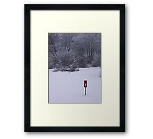 red postbox white snow Framed Print