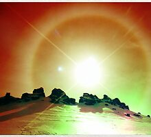 sun halo II by geophotographic