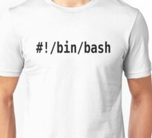 #!/bin/bash - Black Font for Command Line Hackers Unisex T-Shirt