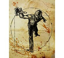 Vitruvian Zombie Unleased Photographic Print