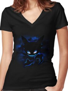 Dream Eater Women's Fitted V-Neck T-Shirt