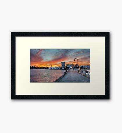 Scorched Sky at St Kilda Framed Print