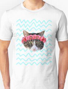 Kitty Cat Flower Crown Unisex T-Shirt