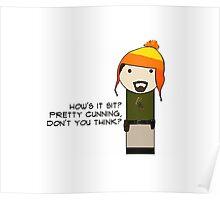 Cunning Hat Jayne kokeshi doll Poster
