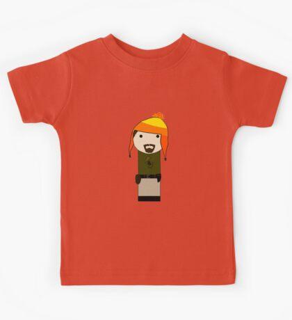Cunning Hat Jayne kokeshi doll Kids Tee