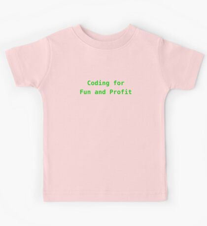 Coding for Fun and Profit Kids Tee