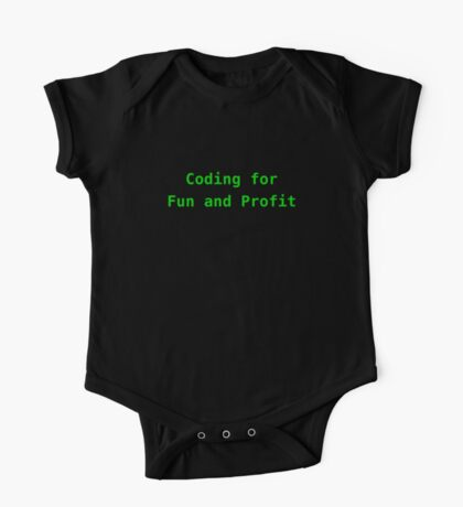 Coding for Fun and Profit One Piece - Short Sleeve
