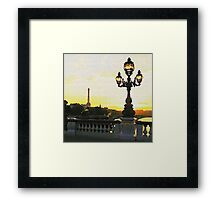 A PARIS BRIDGE Framed Print