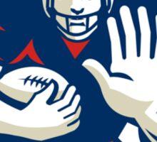 American Football Running Back Fending Shield Sticker