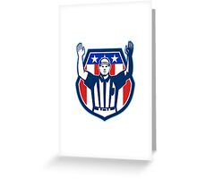 American Football Official Referee Touchdown Greeting Card
