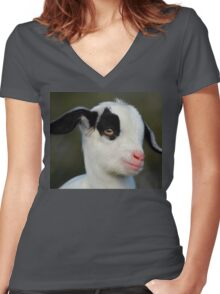 Baby Billy Goat Women's Fitted V-Neck T-Shirt