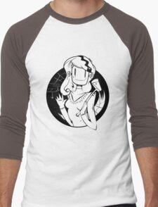 Lady Frankenstein- Happy Halloween Men's Baseball ¾ T-Shirt