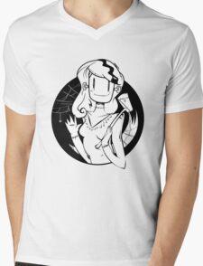 Lady Frankenstein- Happy Halloween Mens V-Neck T-Shirt