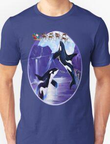 Orca Christmas Oval T-Shirt