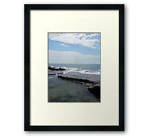 Calm Surf Rock Pool Framed Print