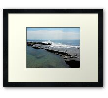 Clam Surf Rock Pool Framed Print