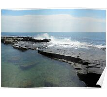 Clam Surf Rock Pool Poster