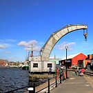 Historical Steam Engine Crane at Bristol Harbor.. by Arvind Singh
