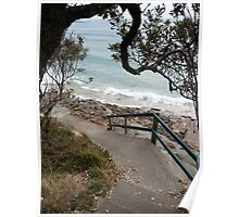 Spooky Beach Path Poster