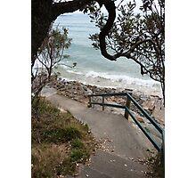 Spooky Beach Path Photographic Print
