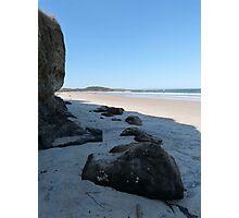 Rocks on the Beach Photographic Print