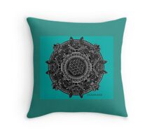 Teal Flying fish Throw Pillow
