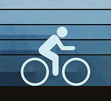 Biking Blue by perkinsdesigns