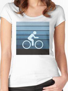 Biking Blue Women's Fitted Scoop T-Shirt