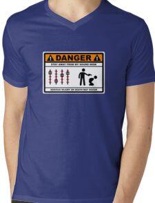 Danger - Stay away from my Sound Desk Mens V-Neck T-Shirt
