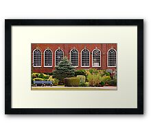 Windows of a club - HDR Framed Print