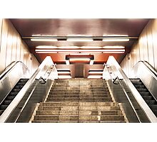 Subway and Symmetry Photographic Print