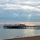 Brighton Pier and Sunbeams by Sue Robinson