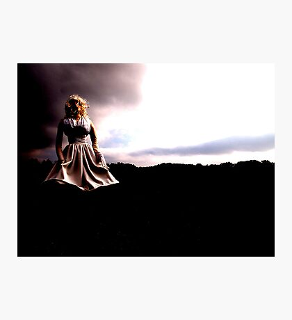 Lady in White Photographic Print