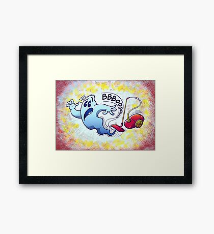 Ghost Vacuum Cleaner Nightmare Framed Print