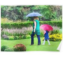 Rainy Day in the Garden Poster