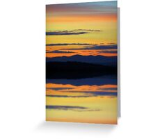 highland sunset Greeting Card