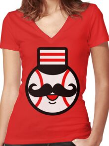 Cincinnati Redlegs Women's Fitted V-Neck T-Shirt