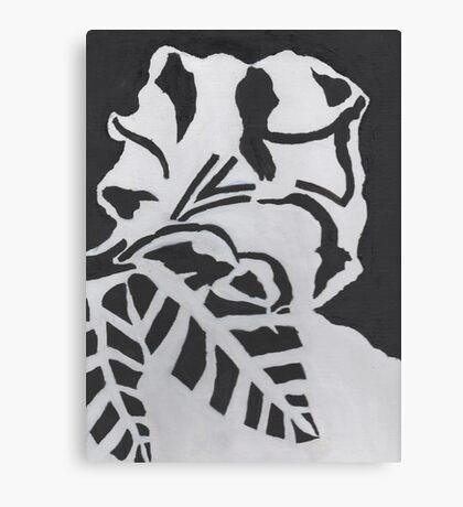 Monochrome flower Canvas Print