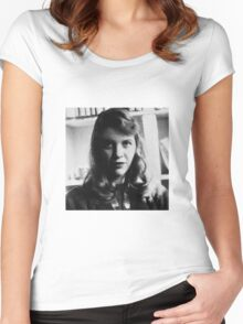 Sylvia Plath - Photo Women's Fitted Scoop T-Shirt