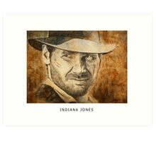 we named the dog Indiana Art Print