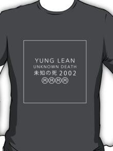 YUNG LEAN UNKNOWN DEATH 2002 (BLACK) T-Shirt