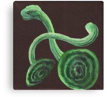 Mushrooms in Green Canvas Print
