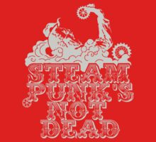 steampunk's not dead (silver) Kids Clothes