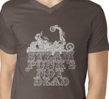 steampunk's not dead (silver) Mens V-Neck T-Shirt