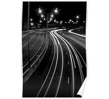 Freeway Streaming Lights Poster