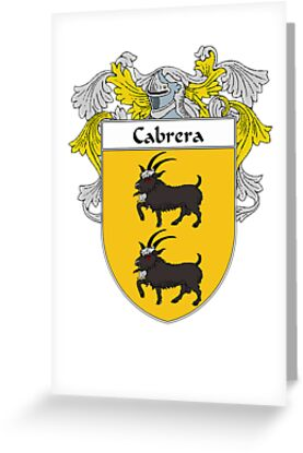 Cabrera Coat of Arms/Family Crest by William Martin