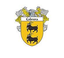 Cabrera Coat of Arms/Family Crest Photographic Print